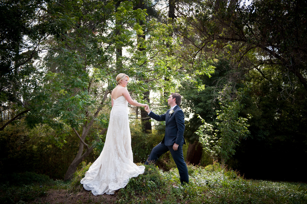 Redlands Wedding - Kate and Austin Pictured in Beautiful Greenery