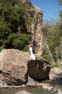 Bride and groom adventure elopement in southern California